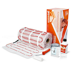 Prowarm Electric Ufh Mat 2.5m2 Kit (Digital Thermostat White)