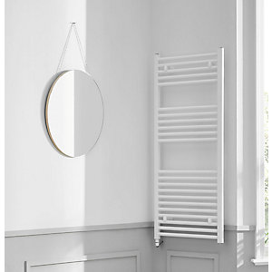 Towelrads Richmond White Electric Straight Towel Rail 1186mm x 600mm