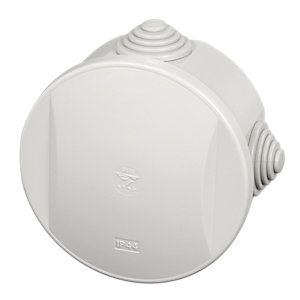 Stag SE02 Diameter 80 x 40mm IP44 Enclosure Round with Clip On Lid & Glands