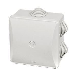 Stag SE03 80 x 80 x 50mm IP44 Enclosure with Clip On Lid & Glands
