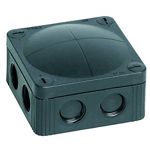 Wiska 308/5 Black Combi IP66 32A Junction Box