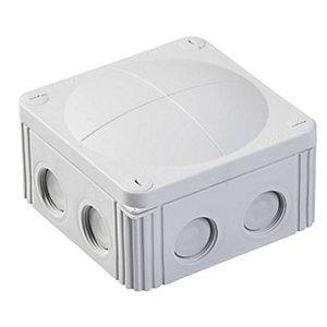 Wiska 607/5 Grey Combi IP67 Junction Box with KRM25/20 Adaptor
