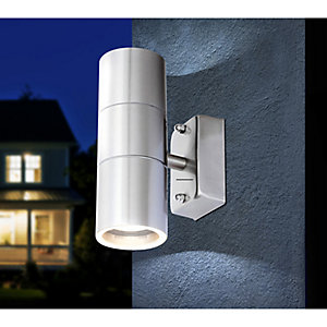 Globo 3201-2L Outdoor Up & Down 5W IP44 Stainless Steel Wall Light