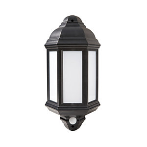 Robus Kerry LED Half Lantern with PIR Black 7W - RKE00740PIR-04