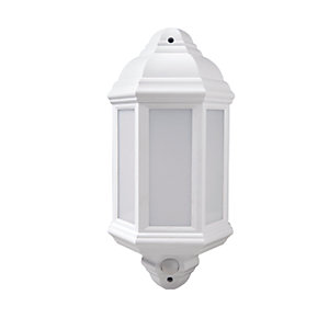 Robus Kerry LED Half Lantern with PIR White 7W  - RKE00740PIR-01