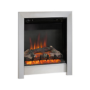 "Be Modern Athena 18"" Four Sided Inset Electric Fire - Chrome"