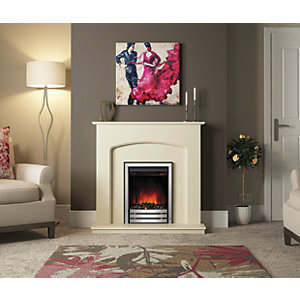"Be Modern Bewley 42"" Electric Fire Suite - Ivory"