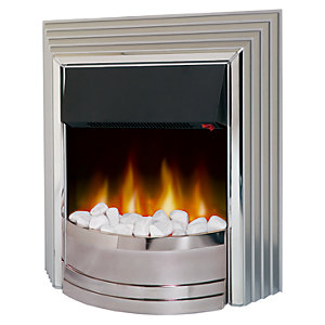 Dimplex Castillo Freestanding Electric Fire Chrome/ Silver CST20