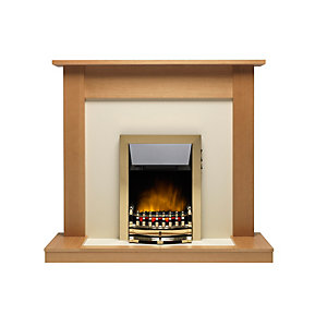 "Valor Medway Ecolite Electric Suite 15"" Hearth - Oak"