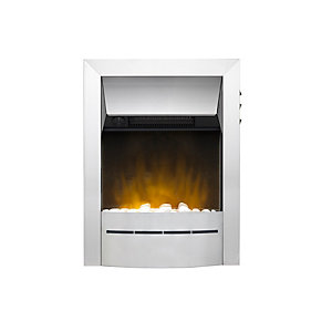 Valor Savena Ecolite Electric Fire Brushed Chrome - 47519