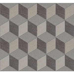 Art Rock Cubechrome Mosaic Porcelain Wall & Floor Tile 295 x 340 mm (Pack Of 10)