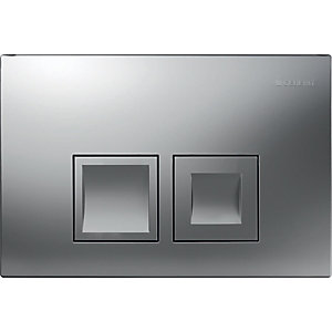 Geberit Delta 50 Dual Flush Plate Matt Chrome 115.135.46.1