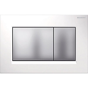 Geberit Sigma 30 Dualflush White Matt Chrome 115.883.Kl.1