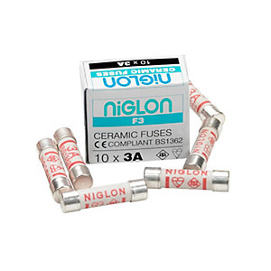 Niglon F3 3 Amp Fuse - Pack of 10