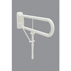 Bathex 35040 H/Arm C/W Drop Leg White