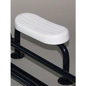 Nymas Back Rest Rail, Steel 220mm Projection, Exposed Fixings, Dark Blue