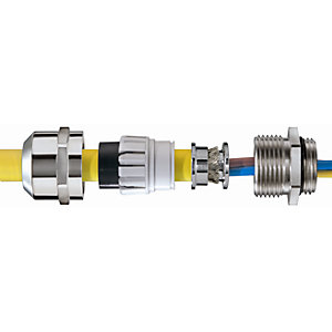 Wiska Emskv 25 Emv-s IP68 Nickel Plated Gland with Emc Earth Cones