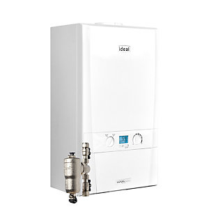 Ideal Logic Max H30 30kW Heat only Boiler with System Filter, Horizontal Flue & Touch Control