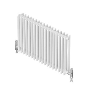 Barlo Adagio D35 Horizontal Double Designer Radiator White 600x980mm