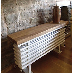 Towelrads Oak Wooden Top Bench Radiator 520mm x 900mm