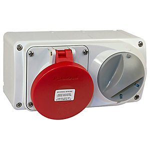 Lewden PM32/454236LW Surface Interlocked Socket 32A 400V 3P+e 6H IP44