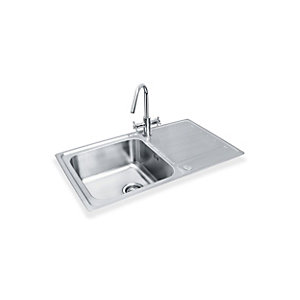 Bristan Index Easyfit Sink 1.0 Bowl Stainless Steel Universal