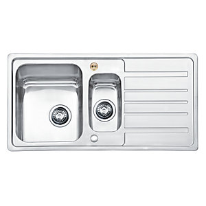 Bristan Index Easyfit Sink 1.5 Bowl Stainless Steel Universal