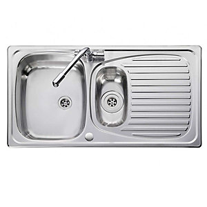 Leisure Euroline 1.5 Bowl Stainless Steel EL950/2 Sink Only