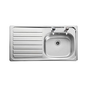 Leisure Lexin 1 Bowl Inset Kitchen Sink (Left Hand) LE95L