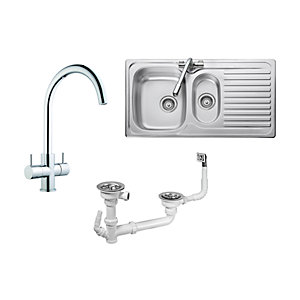 iflo 1.5 Bowl Sink & Kisdon Tap Pack