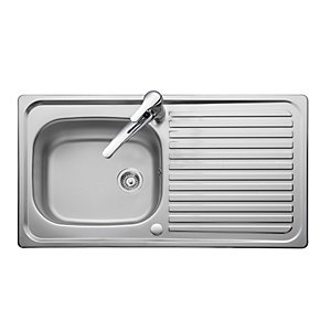 iflo 1 Bowl 1 Tap Hole Reversible Kitchen Sink