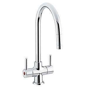 Bristan Beeline Monobloc Kitchen Sink Mixer Tap With Pull-Out Nozzle Chrome BE SNK C
