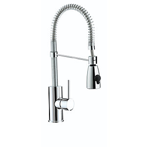 Bristan Target Kitchen Monobloc Sink Mixer Tap With Pull Out Spray 185 mm x 200 mm -TGSNKC