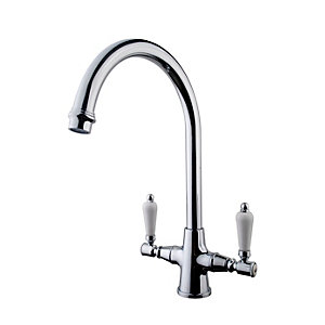 Traditional Kitchen Monobloc Mixer Tap Chrome