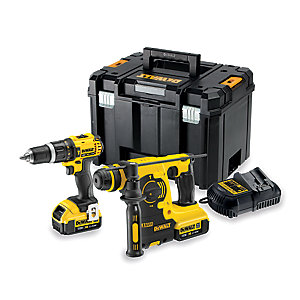 DeWalt 18V Speed Combi Drill SDS Kit