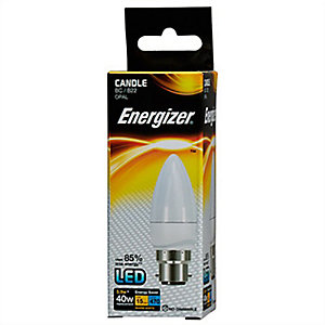 Energizer 470LM 5.9W Warm White Candle Opal B22 LED Lamp