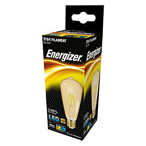 Energizer ES ST64 Gold Filament LED Dimmable Light Bulb - 5W