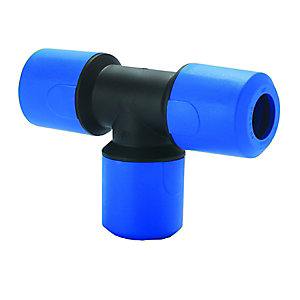 JG Speedfit Blue MDPE Equal Tee 25mm - UG202B