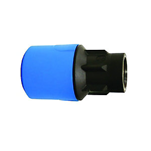 "JG Speedfit Blue MDPE Female Adaptor 25mm x 3/4"" BSP - UG4502B"