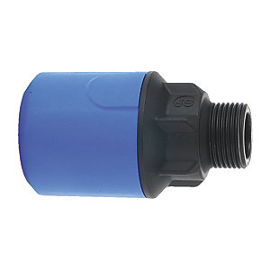 "JG Speedfit Blue MDPE Male Adapter 32mm x 1"" BSPT - UG103B"