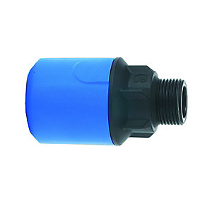 "JG Speedfit Blue MDPE Male Adaptor 20mm x 1/2"" BSP - UG101B"