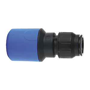 JG Speedfit Blue MDPE to Copper Coupler Blue 28mm x 32mm - UG604B