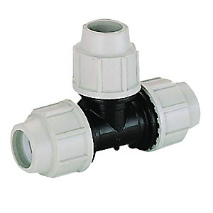 Plasson Equal Tee Compression Connector 25mm - 7040DDD