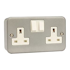 Metal Clad 13A Double Socket - CL036
