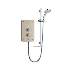 Mira Galena Thermostatic Electric Shower Black Flock Glass