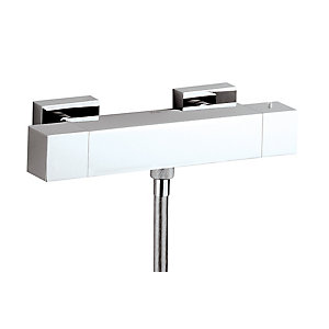 Abode Zeal Thermostatic Bar Mixer Shower (Exposed) Ab2102