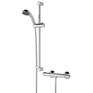 Bristan Zing Thermostatic Bar Mixer Shower (with Fast Fit Kit) ZI SHXSMCTFF C