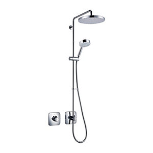 Mira Adept Plus Thermostatic Mixer Shower (Concealed with Large Fixed Head & Diverter)