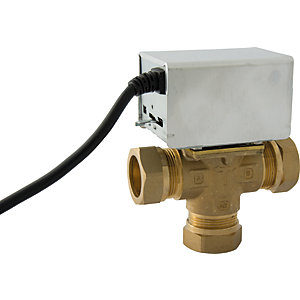 3 Port 28mm Mid Position Motorised Valve
