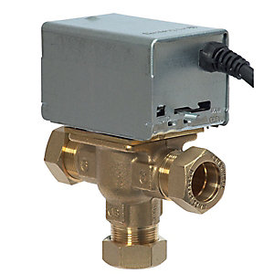 Honeywell 3-Port Motorised Mid Position Valve 28 mm V4073A1088/U